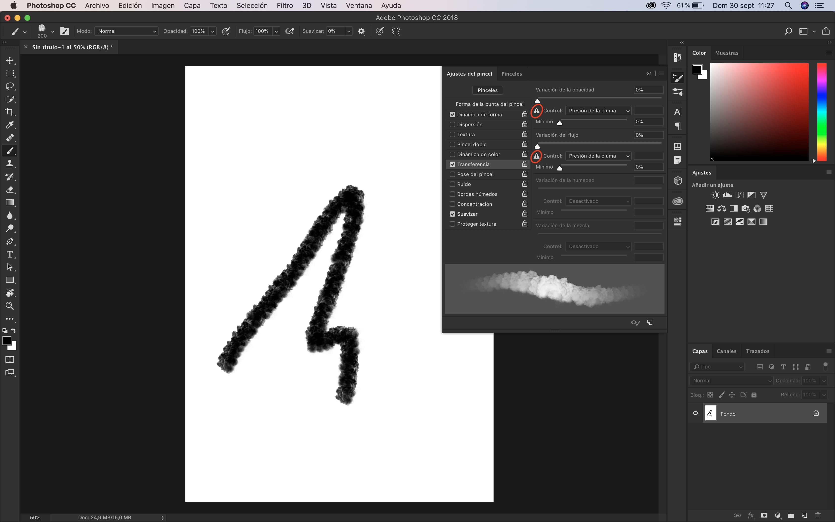 Photoshop no detecta la presión de la Wacom | Informática | Domestika