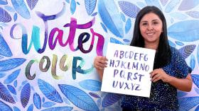 Caligrafia com pincéis de água para principiantes