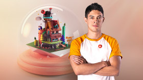 Creation of 3D Miniature Worlds with Procreate and Cinema 4D