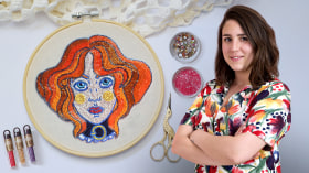 Beaded Embroidery Portraits