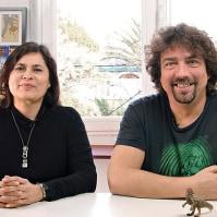 Coke Riobóo y Lourdes Villagómez