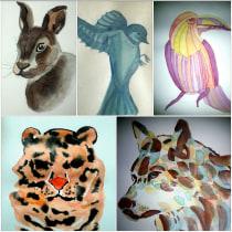 Mi Proyecto: he realizado un collage a partir de los trabajos realizados durante el curso. Un proyecto de Ilustración de Alfredo Córdova Méndez - 25.02.2020