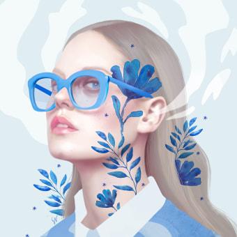 Creative Girl. A Art Direction, Editorial Design, Digital illustration, Digital Marketing, Portrait Drawing, Artistic drawing, and Communication project by Sara Vera Lecaro - 03.14.2020