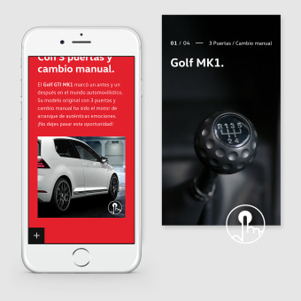 Volkswagen Golf The Original. Un projet de UI / UX, Design d'interaction , et Web Design de cintia corredera - 06.08.2020