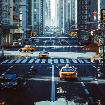 Kitbash Urbano. Um projeto de Fotografia, 3D, Arquitetura, Direção de arte, Design de iluminação, Arte urbana, VFX, Animação 3D, Concept Art, Arquitetura digital, Composição Fotográfica, Ilustração Arquitetônica, Fotografia arquitetônica e Visualização arquitetônica de Ro Bot - 07.08.2020