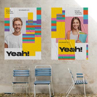Academia Yeah!. Un progetto di Br, ing e identità di marca, Graphic Design, Naming , e Design di loghi di Revel Studio - 09.09.2020