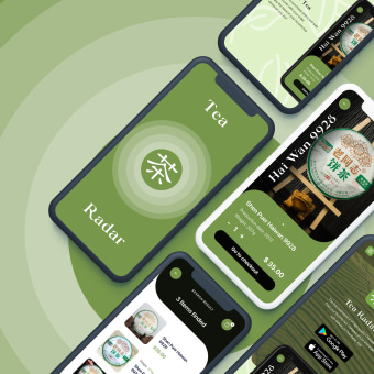 Tea Radar Mobile App & Promo Page. My project in Interface Design with Sketch course. A UI / UX, Animation, Webdesign, Webentwicklung und 2-D-Animation project by Nikita Apoykov - 13.09.2020