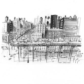 New York Sketches. Un projet de Illustration, Esquisse , Dessin au cra, on, Illustration architecturale , et Carnet de croquis de Carlo Stanga - 03.11.2020