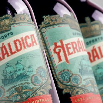 Oporto Vintage HERÁLDICA 🇵🇹🍇. Un progetto di Design, Illustrazione, Br, ing e identità di marca, Graphic Design, Packaging , e Disegno di Emi Renzi - 11.11.2020