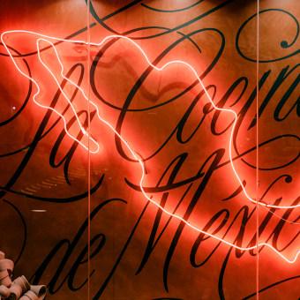 Mural La Cocina de México. Un proyecto de Br, ing e Identidad, Diseño gráfico, Lettering y Brush painting de Eduardo Mejía - 13.11.2020