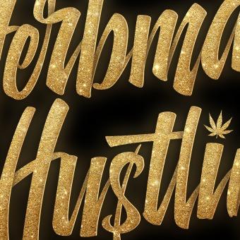 Herbman Hustlin. Um projeto de Lettering, Design de logotipo, Lettering 3D, H e lettering de Eduardo Morgan - 08.01.2021