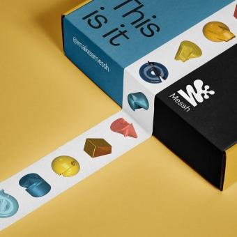 Messh. Um projeto de Br, ing e Identidade, Design de logotipo e 3D Design de Ramon Bosch - 17.01.2021