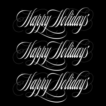 Happy Holidays. A Graphic Design, T, pograph, Calligraph, Lettering, Vector Illustration, Logo Design, Digital Lettering, T, pograph, design, H, Lettering, and Digital Drawing project by Eduardo Mejía - 12.21.2020