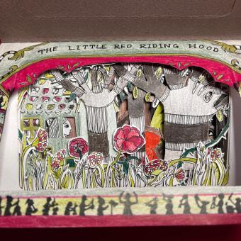 The Little Red Riding Hood. Un progetto di Progettazione editoriale, Papercraft, Stor, telling, Stor, board, Illustrazione infantile e Illustrazione editoriale di Karishma Chugani - 25.01.2021