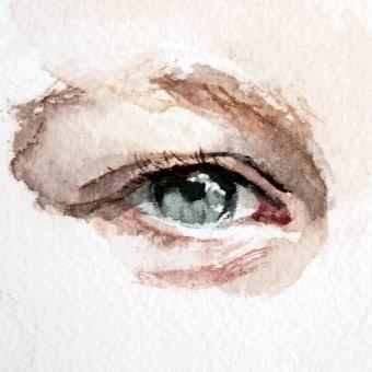 Art Anatomy: The Eye. Un proyecto de Ilustración, Bellas Artes, Pintura, Bocetado, Creatividad, Pintura a la acuarela, Ilustración de retrato, Dibujo artístico e Ilustración naturalista de Michele Bajona - 25.01.2021