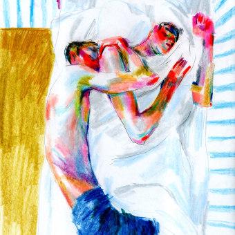 Intimidades. Un projet de Illustration, Beaux Arts, Dessin au cra, on, Dessin, Illustration de portrait, Dessin artistique , et Dessin anatomique de Daniel Torrent Riba - 12.02.2021