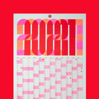 2021 Risograph CALENDAR. A Graphic Design, 2D Animation, and Poster Design project by Antton Ugarte Ibarrondo - 02.24.2021
