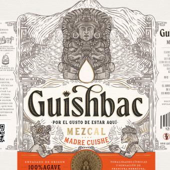 GUISHBAC - Mezcal 100% agave 🇲🇽⛰️. Un projet de Design , Illustration, Design graphique, Packaging, Dessin au cra, on, Dessin, Dessin de portrait , et Dessin artistique de Emi Renzi - 09.03.2021