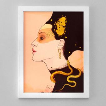 Transmutación N°1 > Mi Proyecto del curso: Técnicas de ilustración con acuarela digital. Un projet de Illustration, Illustration numérique et Illustration de portrait de Martín Domínguez - 04.04.2021