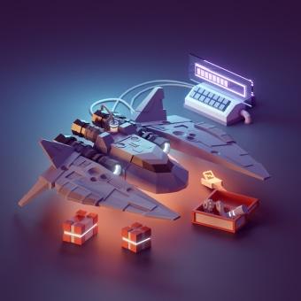 Game Analytics Website Illustrations. Un progetto di 3D, Animazione 3D , e Modellazione 3D di Mohamed Chahin - 01.12.2020