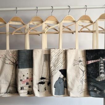 Think more, buy less. A Kreativität, Nähen, Artistische Zeichnung, Weben, Upc und cling project by Ana Q - 06.04.2021