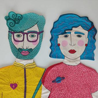 Los Gracias. Un progetto di Arte concettuale, Ricamo e Illustrazione tessile di ine agresta - 11.10.2020