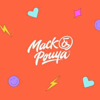 Mack & Pouya Branding. Un projet de Illustration, Direction artistique, Br, ing et identité, H , et lettering de Nubia Navarro (nubikini) - 12.04.2021