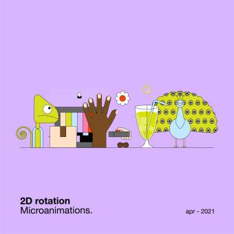 2D rotation — Microanimations. Un projet de Illustration, Motion Graphics, Animation, Design graphique , et Animation 2D de María Marqueses - 15.04.2021