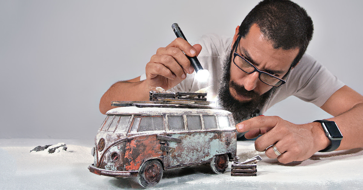 Creative Studio Photography with Scale Models