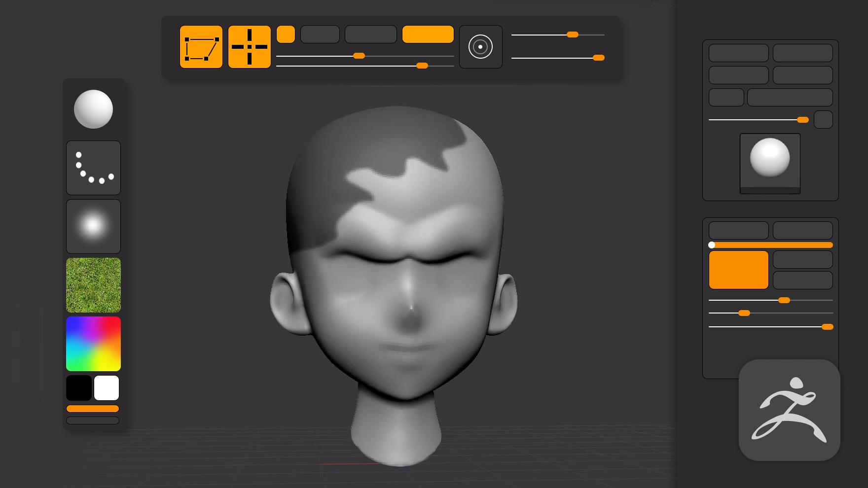Curso 1: Fundamentos de escultura digital e interfaz de ZBrush