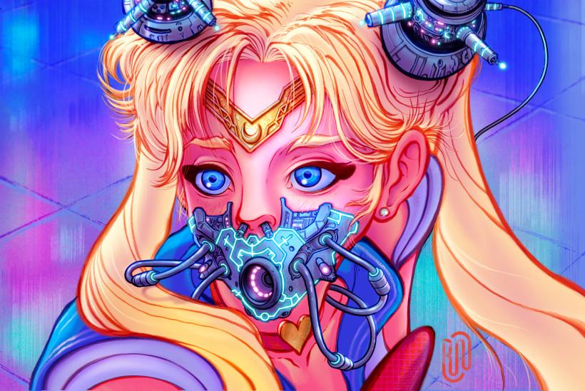 Sailor Moon Cyberpunk Fanart Domestika