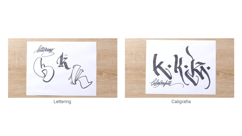 ¿Qué es la caligrafía y qué es el lettering? 8