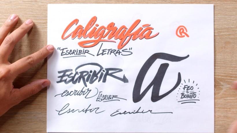 ¿Qué es la caligrafía y qué es el lettering? 3