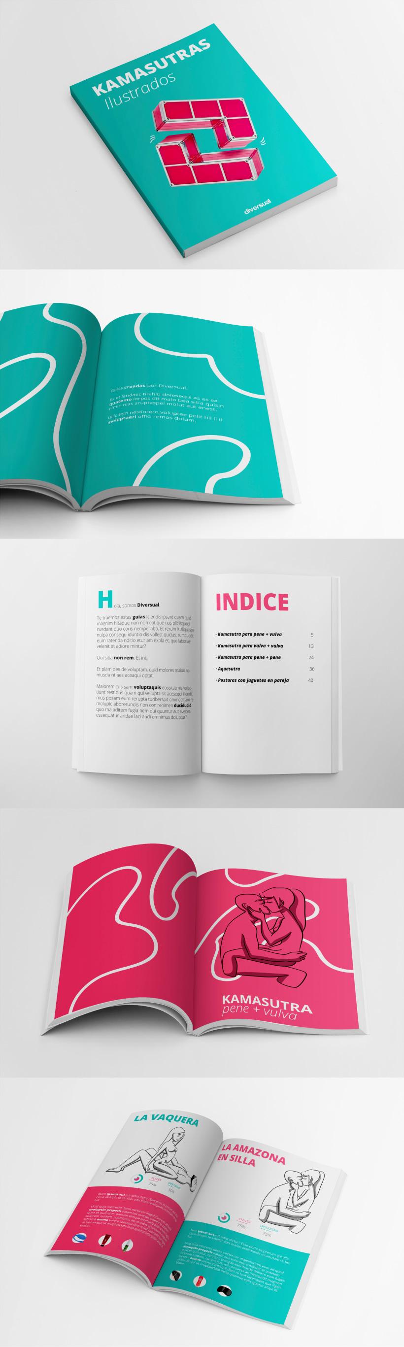 Diseño Guía de Kamasutras ilustrados para Diversual ...