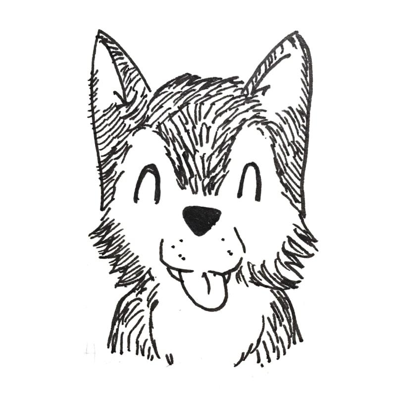 Inktober Husky