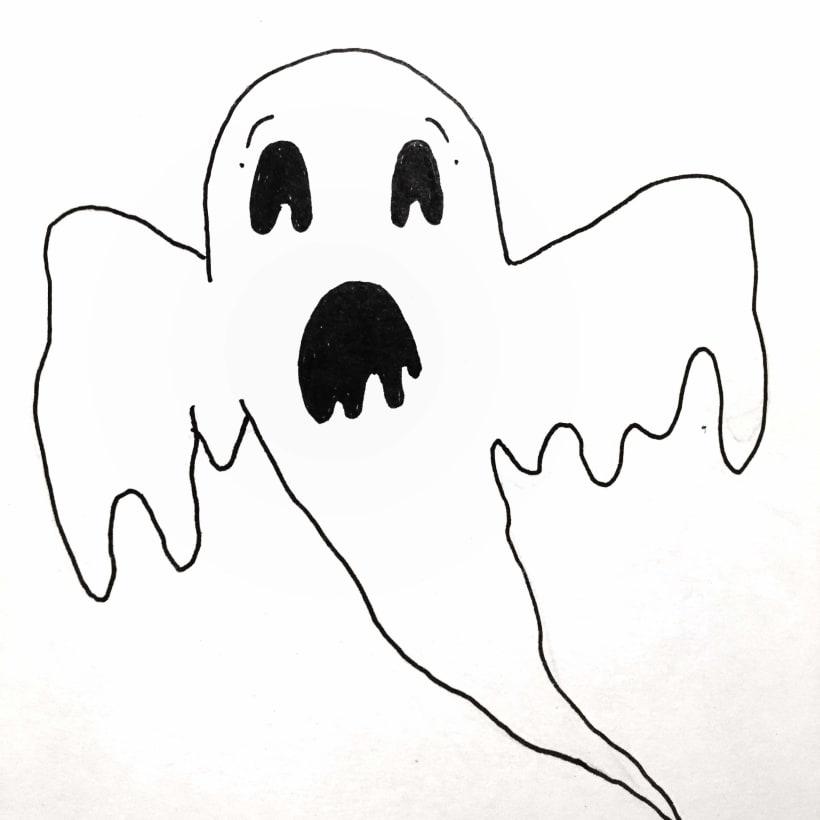 Inktober Ghost