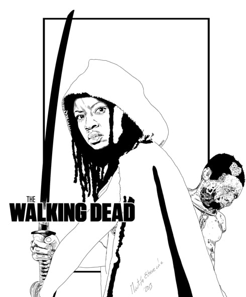 The Walking Dead Michonne Domestika