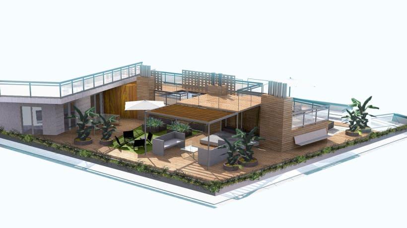 Terraza ático Piso Del Centro De Barcelona Domestika