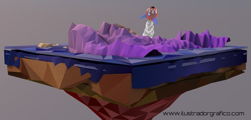 Low poly ( cinema 4D ) | Domestika