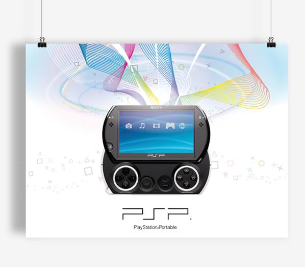 Poster Design PSP™go – Phone House | Domestika
