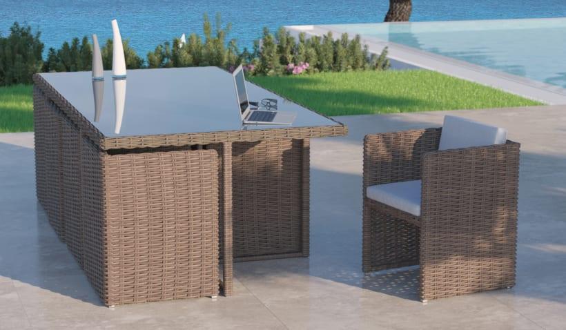 Mimbre Ii Renders 3d Sofás Terraza Exterior Domestika