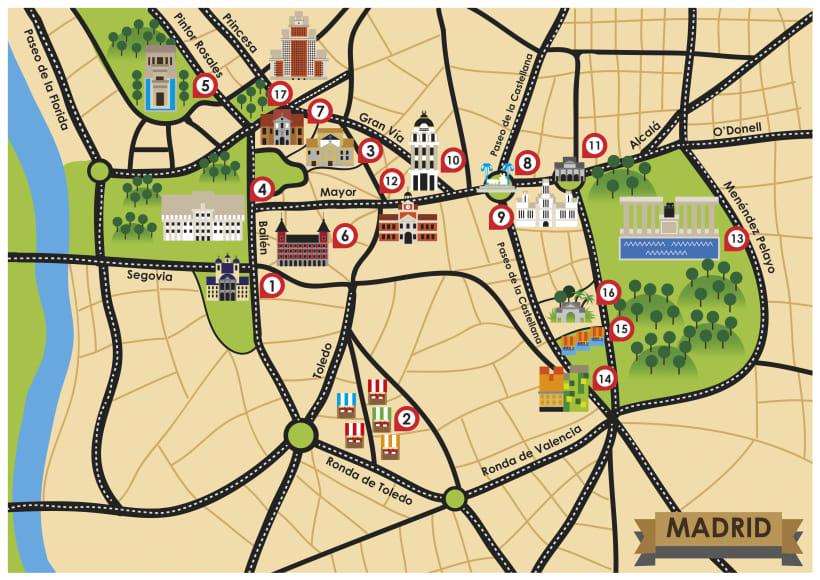 Mapa Turistico De Madrid.Mapa Turistico De Madrid Domestika