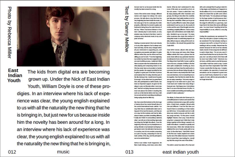 Lados Magazine, maquetación y diseño   Domestika