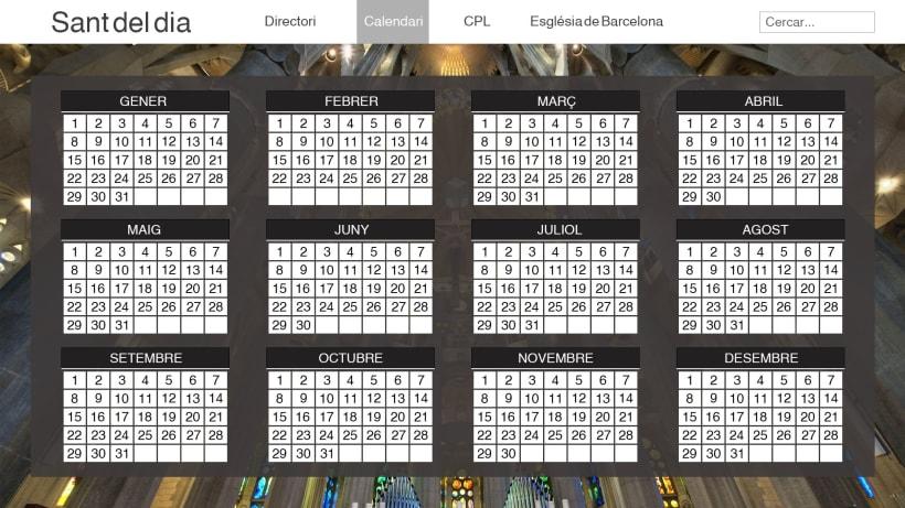 Calendario Santoral.Web Layout Calendario Santoral Domestika