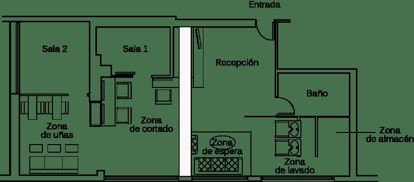Diseño interior de salón de belleza   Domestika
