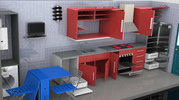 Diseño de cocina 3D   Domestika