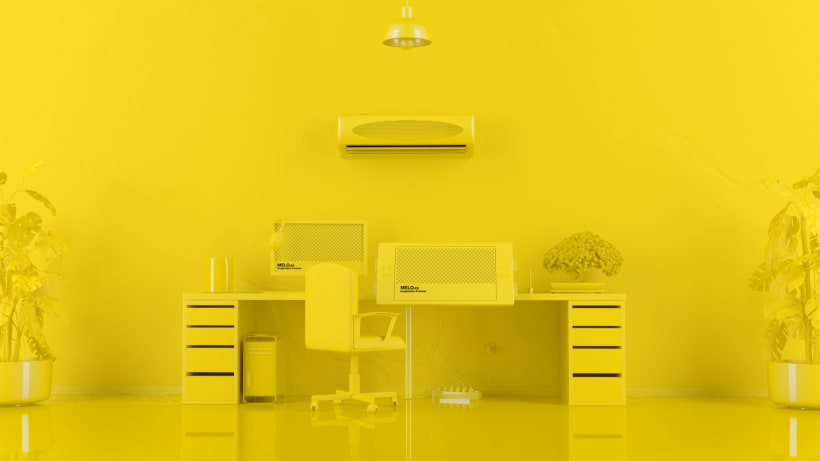 Designer Desk Colorful Tools | Domestika