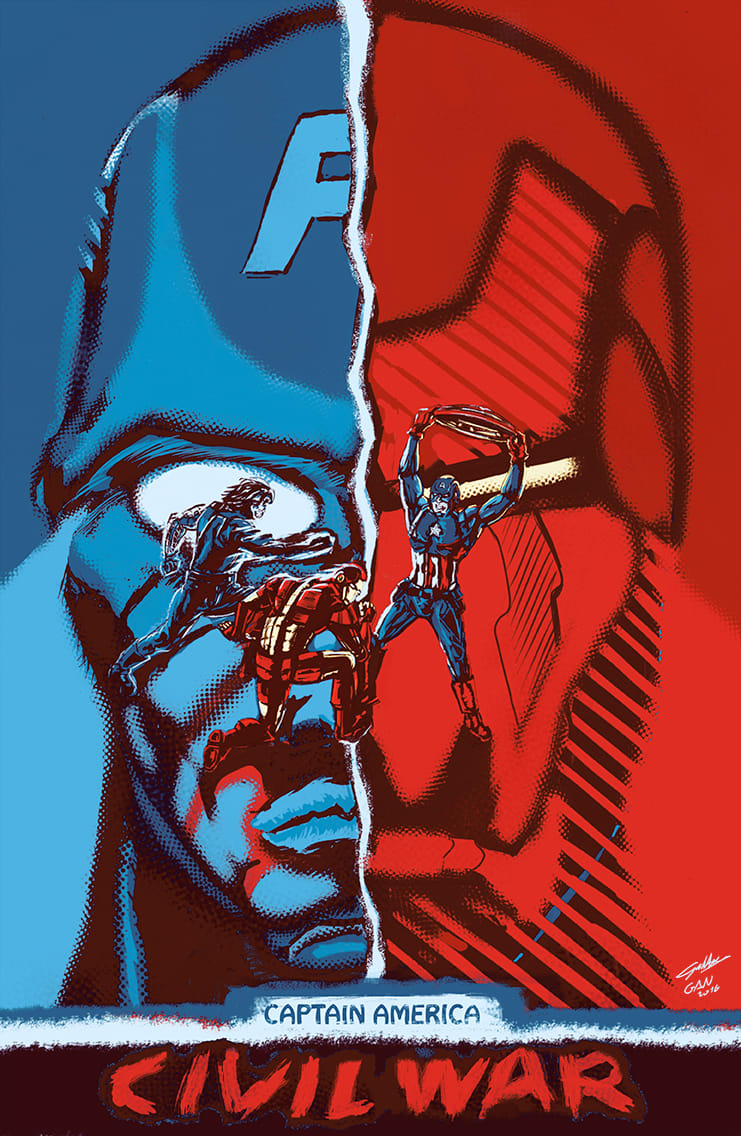 Captain America Civil War poster   Domestika