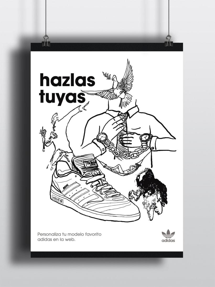 Basura compacto antiguo  Cartel Publicitario Adidas | Domestika