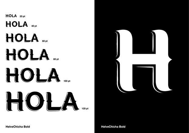 HelveChicha, una tipografía que puede viajar  6